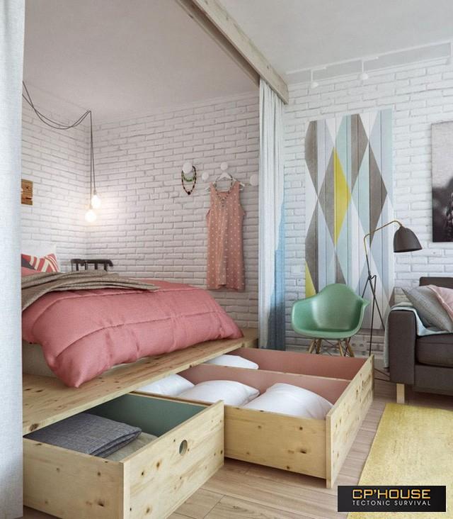 Với những thiết kế thông minh này thì chẳng cần giường, phòng ngủ của bạn cực kỳ đẹp