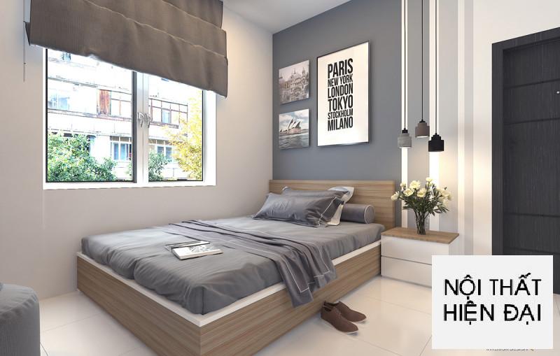 Thiết kế nội thất căn hộ trường phái hiện đại City Tower - Mr Khoa