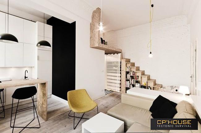 Căn hộ nhỏ với đồ nội thất có thể biến đổi linh hoạt