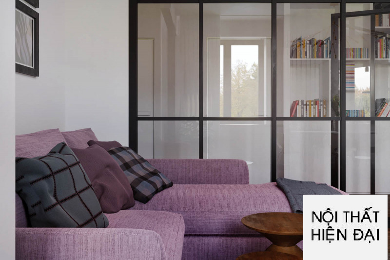 Thiết kế nội thất Masteri 2 phòng ngủ cho thuê đơn giản nhưng sang trọng - Chị Loan