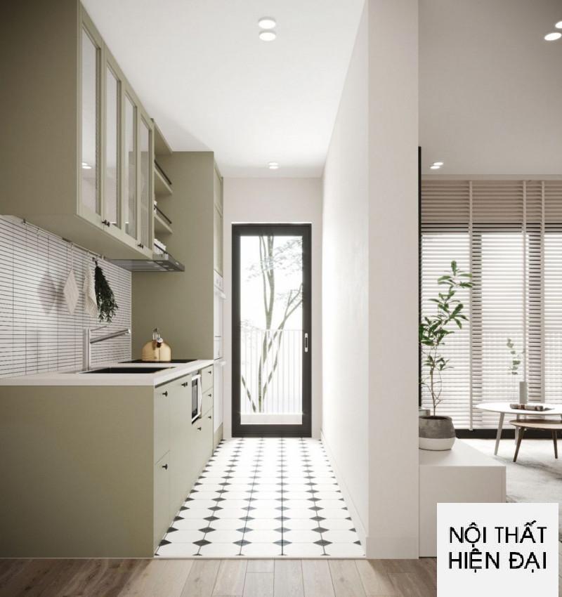 Thiết kế nội thất căn hộ tông trắng sáng với nội thất màu Pastel cô Vân - Masteri Thảo Điền