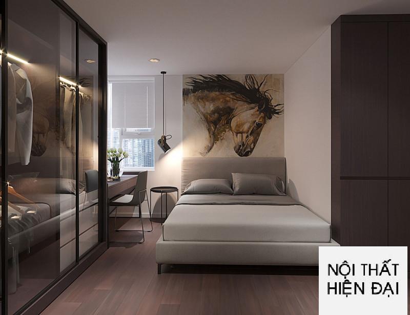 Thiết kê nội thất chung cư 2 phòng ngủ  Palm Garden Quận 2 - Chị Huệ