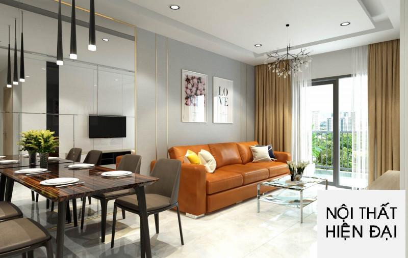 Thiết kế nội thất nhà mẫu 2 phòng ngủ 75m2 Era Town Quận 7