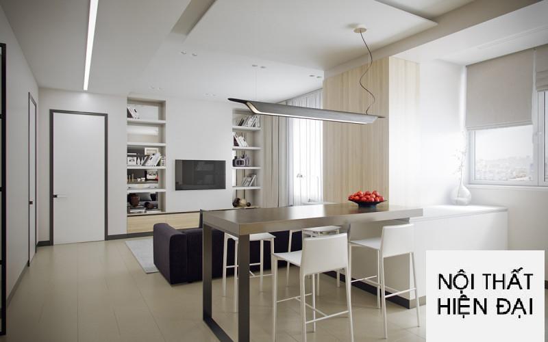 Thiết kế nội thất nhà phố phong cách mở