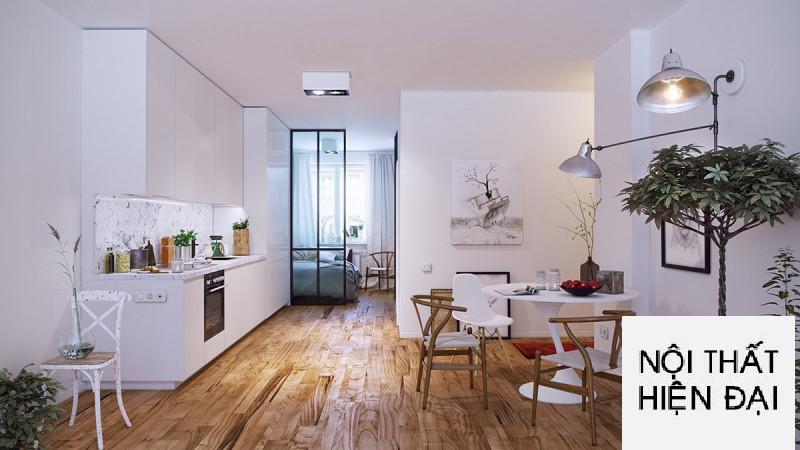 Thiết kế nội thất nhà phố phong cách Bắc Âu cho không gian bếp