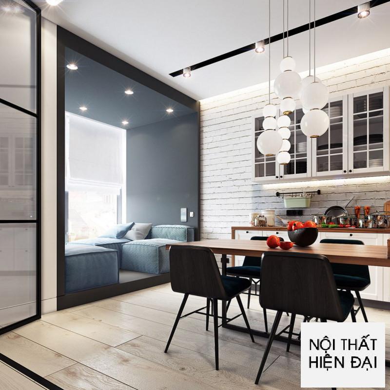Thiết kế nội thất phong cách tối giản cho căn hô cho thuê