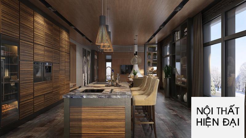 Thiết kế nội thất phòng khách biệt thự sang trọng
