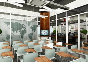 Văn phòng làm việc Trust Circle với nhiều sản phẩm nội thất gỗ