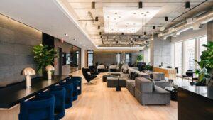 Thiết kế văn phòng mở ấn tượng của Industrious và Equinox